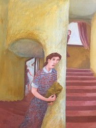 D McIntosh - 1991 Girl on the Stairs.jpg