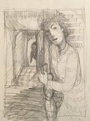 D McIntosh - 1993 On the Stairs sketch.jpg