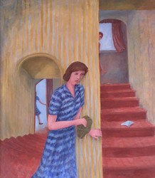 D McIntosh - 1995 On The Stairs or Girl on the Stairs iii.jpg